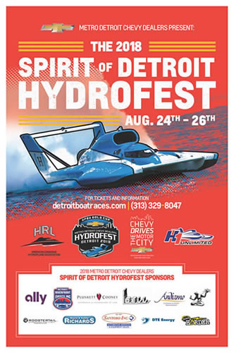 2018 Metro Detroit Chevy Dealers Hydrofest - Events - Lake St Clair - 2018Poster